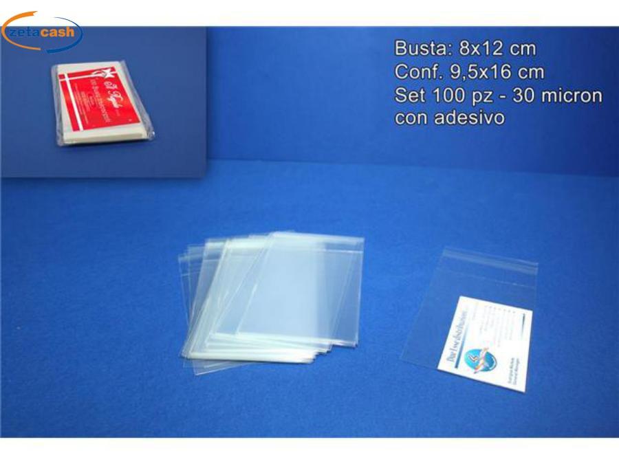 Adesivo Per Vetrai buste trasparenti 100 pezzi con adesivo